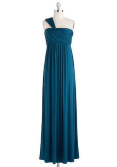 Demeter Maxi Dress in Peacock Blue, #ModCloth