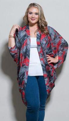 Maci Kimono in Multi Print from Stylish Plus Australia PTY LTD - Plus Size Clothing Sizes 10 to 36 Cute Fall Outfits, Spring Outfits, Plus Size Fashion For Women, Plus Size Women, Plus Size Dresses, Plus Size Outfits, Plus Zise, Plus Size Clothing Stores, Outfits Damen