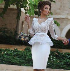 2016 New V-Neck Satin Lace Appliques Cocktail Dresses Three Quarter Cocktail Dress Knee-Length Women Dress For Wedding Party