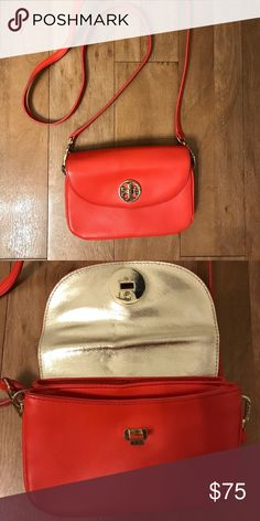 ffdd1643102 Tory Burch Cross Body Bag Tory Burch Cross Body Bag. Vibrant red color with  gold