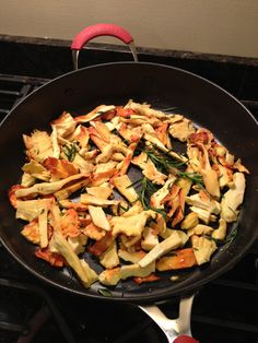 Chicken of the woods mushrooms, rosemary, garlic and olive oil, Mmmm