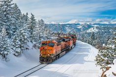 BNSF #6626 (GE ES44C4) leads a manifest freight @ Crescent, Colorado on February 23, 2015. Photo by Nick D'Amato.