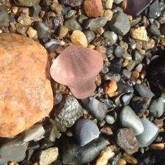 I found this on a Mass. beach: Rare Pink Seaglass Perfume Stopper