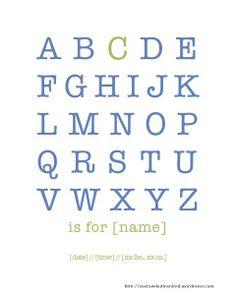 Average But Inspired // Customizable Alphabet Name Printable - FREE