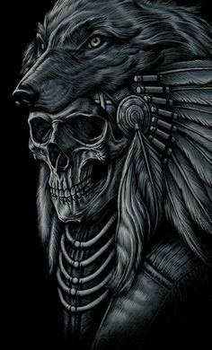Skull chief- Pert of a sleeve or single design on chest would look very nice, especially with warm colours.