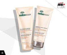 Gel de banho e esfoliante Nuxe, na BeautyList você encontra estes produtos e muitos outros.
