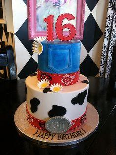 Western theme birthday cake by Designer Cakes By April, via Flickr