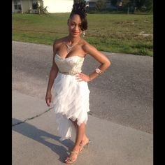 Strapless Prom Dress Good condition. Formal wear. Perfect style for a wedding, prom, school dance, etc! Teeze Me Dresses High Low