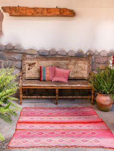 Handwoven Peruvian Frazada No. Purple Bohemian Bedroom, Bohemian Style Rooms, Bohemian Wall Decor, Bohemian Lighting, Bohemian Lifestyle, Modern Bohemian, Boho Style, Home Decor Sites, Home Decor Online