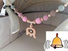 Crochet baby stroller chain with elephant and bell/crochet teething toy/pink/old pink/mint/wooden elehpant/baby shower gift/pram decor Häkeln Sie Kinderwagen Elefant Mobile / Kinderwagen Mobile / häkeln Handgemachtes Baby, Baby Kit, Baby Toys, Best Baby Cribs, Elephant Mobile, Pram Toys, Crochet Mobile, Wooden Elephant, Diy Bebe