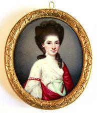 Portraits - Portrait Miniatures of Claudia Hill at Ellison Fine Art