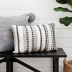 White Throw Pillows, Cute Pillows, Accent Pillows, Pillows On Bed, Decor Pillows, Living Room Pillows, Wool Pillows, Chartreuse Decor, Black And White Pillows