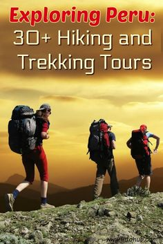 Hiking and Trekking Tours in Peru. If you'd rather watch it live than on TV, wandering out in the woods than browsing the Internet, then hiking & trekking is something for you to consider! Come prove yourself a real nature lover, not a couch potato, and enjoy some of the Hiking/Trekking tours presented here!