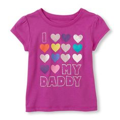 Short Sleeve 'I (Lots of Hearts) My Daddy' Graphic Tee