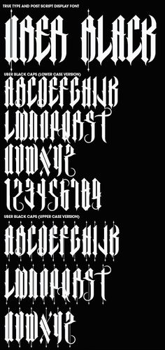 Font Creation by Joshua M. Smith, via Behance Gothic Lettering, Chicano Lettering, Tattoo Lettering Fonts, Hand Lettering Alphabet, Font Art, Types Of Lettering, Lettering Styles, Calligraphy Letters, Typography Letters