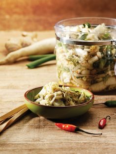 Vegan Kimchi with Ginger and Chiles | Vegetarian Times