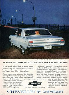 1964 Chevrolet Chevelle Advertising Readers Digest April 1964
