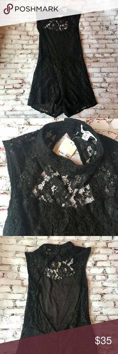 NWT Nasty Gal Black Lace Bodysuit Romper This sexy bodysuit is perfect to wear under a skirt or by itself at a festival!  * Backless as shown and lined but still semi see thru on top * never been worn but there is a little pull near the zipper that wouldn't be noticeable but it's shown in the last picture * Smoke and Pet Free Home * Sorry No Trades * Bundle for a Discount  Please let me know if you have any questions or would like additional pictures.  Happy Shopping! Nasty Gal Other