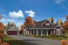 Traditional Style House Plan 95905 with 3 Bed, 2 Bath, 2 Car Garage - Elevation of Cabin Cottage Country Craftsman Ranch Traditional House Plan 95905 - Cottage Style House Plans, Ranch House Plans, Craftsman House Plans, Country House Plans, Cottage Homes, Craftsman Ranch, Cottage Plan, Craftsman Homes, Country Homes