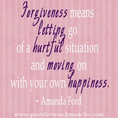 Forgiveness means letting go of a hurtful situation and moving on with your own happiness. via @LeeBlock