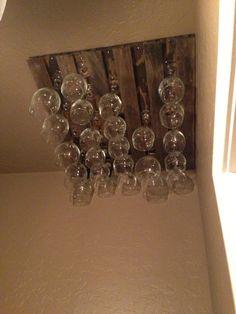 DIY Wine Glass Rack | House to Home