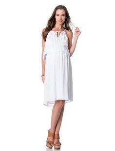 Splendid A Pea in the Pod White Sleeveless Tie Front Maternity Dress