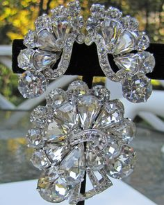 Vintage Eisenberg Original Large Brooch And Earring by MercyMadge, $325.00