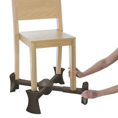 Amazon.com : Kaboost Portable Chair Booster, Chocolate - Goes Under the Chair : Chair Booster Seats : Baby