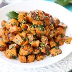 Roasted Sweet Potatoes with Chimichurri