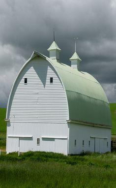 Huge White Barn