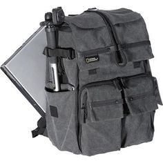 "Product HighlightsFits Medium Camera or Camcorder KitFits Laptop with Screen up to 15.4""Padded Waterproof CanvasThree CompartmentsPockets and Front OrganizerFoldable Rain CoverLeather Trimmed HandleBackpack Harness"