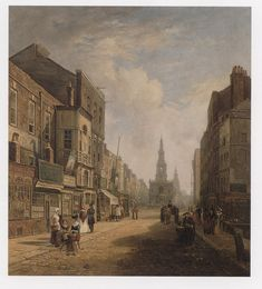 The Strand, looking Eastwards from Exeter Change, Caleb Robert Stanley, 1824