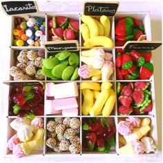 Chuches de frutas. Ideal para una mesa dulce en verano