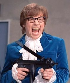 Mike Myers as Austin Powers - 1997 Austin Powers 1997, Austin Powers Yeah Baby, Funny Films, Wayne's World, Saturday Night Live, Bad Timing, Documentary Film, Film Stills, Funny People