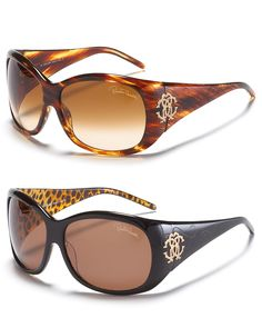 Roberto Cavalli Crystal Logo Sunglasses  #aquarocks