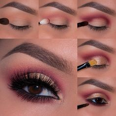 This 'Sultry Night Out' look has just the right amount of shimmer paired with a flirty pop of color to keep the night young. Click for full product details and steps on how to recreate this stunning look by the flawless Ely Marino!