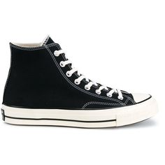 Converse Black All Star Hi 70's Trainers ($78) ❤ liked on Polyvore featuring shoes, sneakers, men shoes, black, black trainers, converse sneakers, black laced shoes, lace up sneakers and laced up shoes
