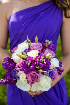 Purple & Grey Spring Wedding at The Waterview|Photographer: Candace Jeffery Photography