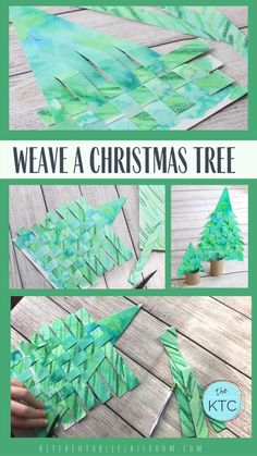Recycle old artwork and reinforce basic weaving skills with this paper Christmas tree weaving. Use old recycled artwork to create this woven paper Christmas tree craft. A great introduction to weaving as well as a Christmas craft that you'll keep! Christmas Crafts For Kids, Christmas Activities, Diy Christmas Ornaments, Christmas Projects, Holiday Crafts, Christmas Christmas, Childrens Christmas Card Ideas, Christmas Cards For Children, Fall Crafts