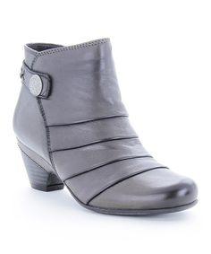 Look what I found on #zulily! Granite Rialto Leather Bootie #zulilyfinds