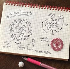 Tiny Flowers, Beautiful Flowers, Tatting Earrings, Tatting Patterns, Kaito, Doilies, Weaving, Bullet Journal, Shapes