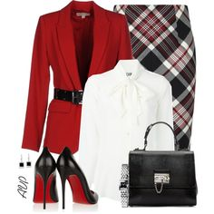 Alexander McQueen Plaid Wool Pencil Skirt by amy-phelps on Polyvore featuring polyvore, fashion, style, Moschino, MICHAEL Michael Kors, Alexander McQueen, Christian Louboutin, Dolce&Gabbana, Gucci and Kobelli