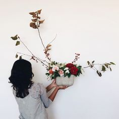 AMAZING lines in this floral design from IRENE KIM