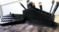 Coffin Makeup Brush Holder Coffin Gothic by LifeAfterDeathDesign