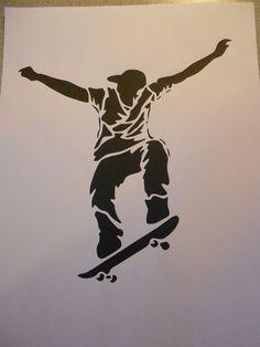 Schablone Skateboarder1 auf A4 FOR SALE • EUR 2,80 • See Photos! Money Back Guarantee. Schablone Stencil auf A4 * Skateboarder Gr. H x B ca. 19 x 17 cm Sie erhalten eine wiederverwendbare dünne Klarsicht - Kunststoffschablone ( Bild dient nur zur besseren Darstellung 182727943027