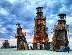 Burning Towers. Burningman 2016