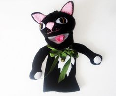 Talking Cat Hand Puppet  Pinocchio or Other Story by Meoneil, $40.00