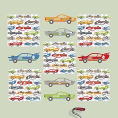 WallPops! Kids Rally Racers Wall Decal | AllModern