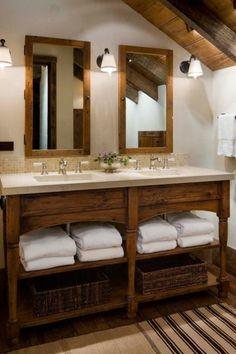 Landhausstil zu Hause populär einrichtungsideen badezimmer spiegel