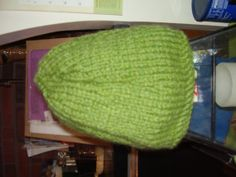 Warm soft hats your choice of green deep red or by TenderTatter, $8.00